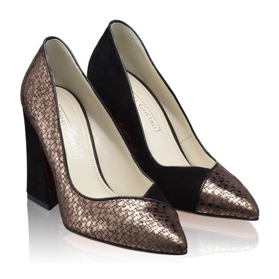 Pantofi Eleganti Dama Betty Camoscio Domino F2