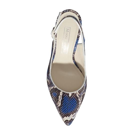 Pantofi Eleganti Dama Candy Snake Skin Blue F4