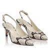 Pantofi Eleganti Dama Candy Snake Skin Alb Negru F2