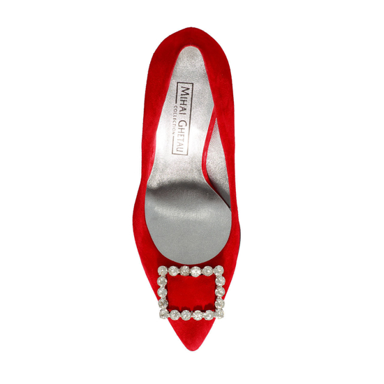Pantofi Eleganti Dama Anne Rosu F4