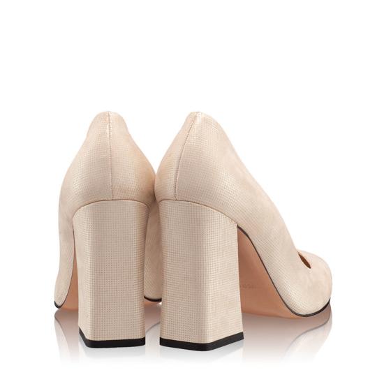 Pantofi Eleganti Dama Anne Gri Oro 02 F3